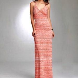 Bebe wave stitch maxi dress in Sand color